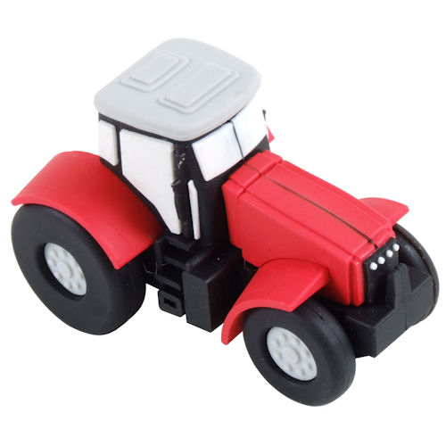 USB stick Tractor, rood