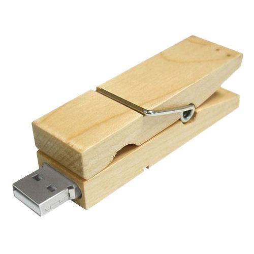 USB stick Wasknijper, maple
